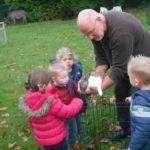 Très belle activité offerte par notre école ce mardi 22: visite de la ferme «Joli pré» dans notre verger !